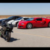 Kawasaki H2R vs Bugatti Veyron Supercar