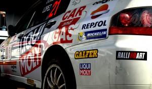EVO IX de Angel Domenech Rally CAM RACE 2014