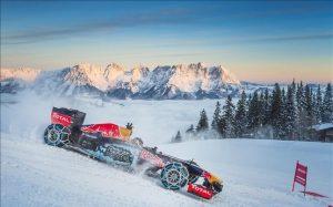 F1 Red Bull en la nieve